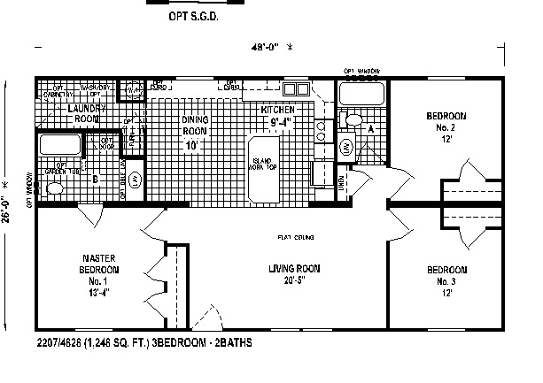 Lake House floorplan