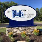The Bluffs on Manistee Lake Entrance Sign