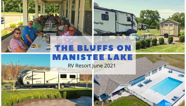 Montage of RV and resort photos